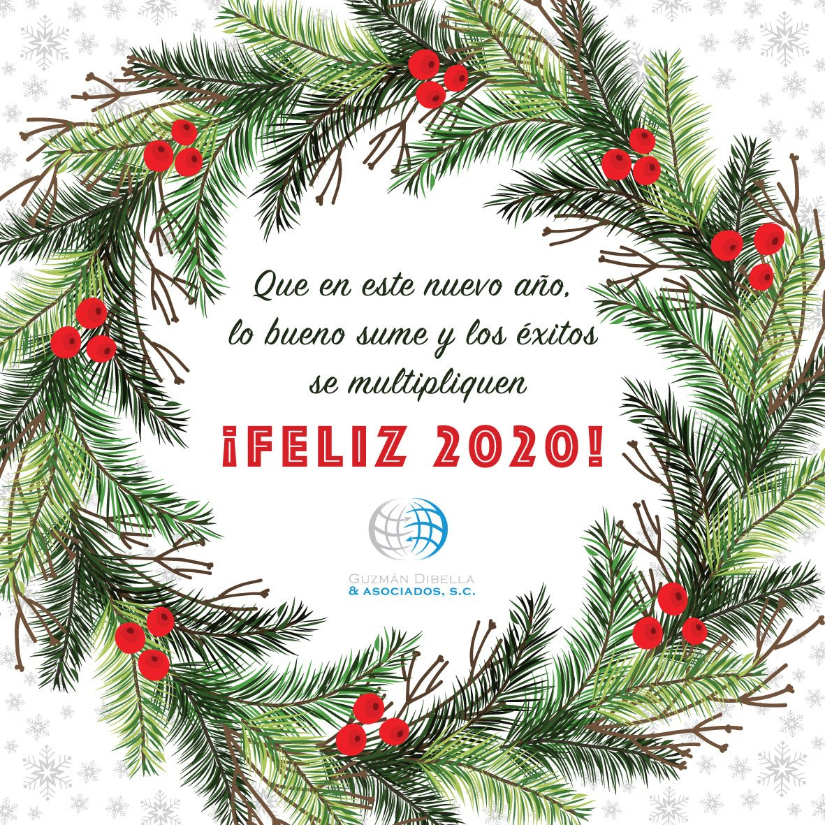 Guzmán Dibella & Asociados les desea un feliz 2020